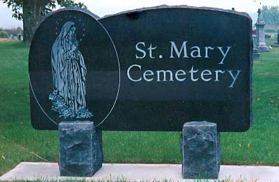 Sign 5 - St. Mary Cemetery