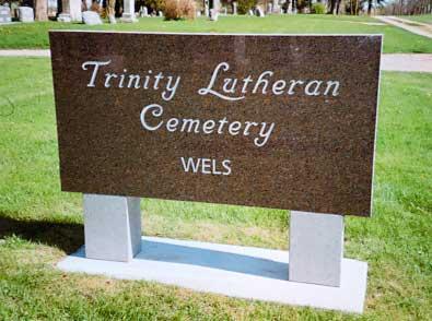 Sign 6 - Trinity Lutheran Cemetery