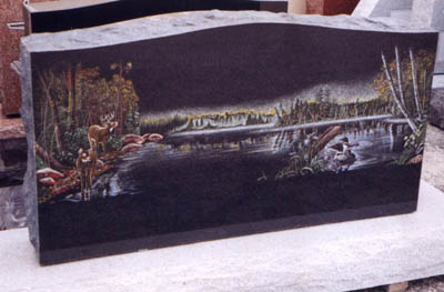 Etched Monument 7 - Color lake scene